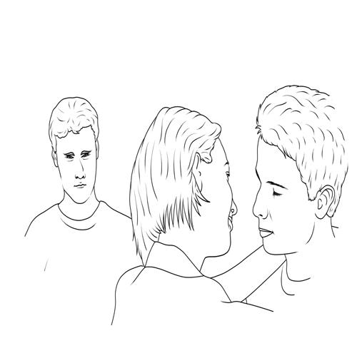 Eifersucht-bekaempfen-so-klappts - Frau mit 2 Männern, einer eifersüchtig